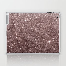 Modern mauve burgundy rose gold glitter Laptop & iPad Skin