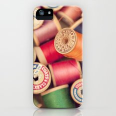 vintage spools iPhone (5, 5s) Slim Case