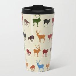 Christmass reindeer pattern Travel Mug