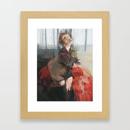 Once a month (Red Riding Hood) Framed Art Print