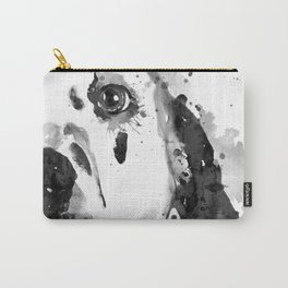 Black And White Half Faced Dalmatian Dog Carry-All Pouch