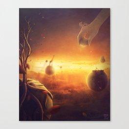 The golden heavens Canvas Print