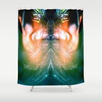 hawk Shower Curtains featuring Lady Hawk by bobtheberto
