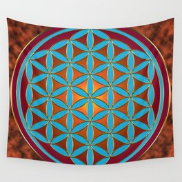 Flower of Life - Fire Wall Tapestry