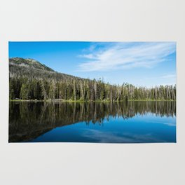 Yellowstone Reflective Lake Rug