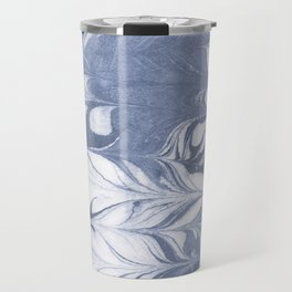 Setsuko - spilled ink marble abstract watercolor painting marbling japanese wave pattern Travel Mug