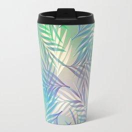 Palm Leaf Pattern Travel Mug