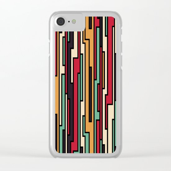 PATTERN 130 Clear iPhone Case