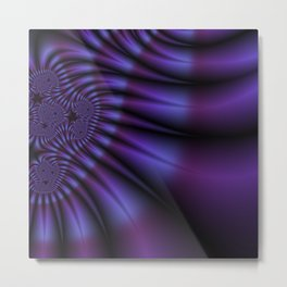 Paint The Town Purple Metal Print