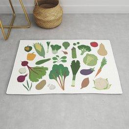 Make Friends With Vegetables Rug