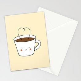 Kawaii Coffee Cup Stationery Cards