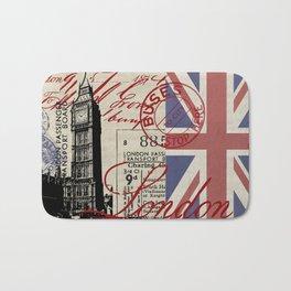 London Great Britain Big Ben Flag Collage #Society6Art Bath Mat