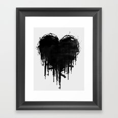 Dark Heart Framed Art Print