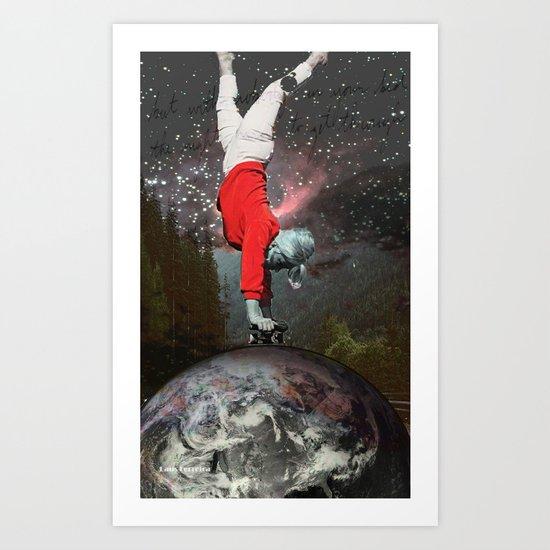 Skating Across The Universe Art Print