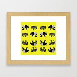 Dance of the Tapirs Framed Art Print