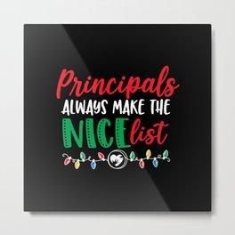 Christmas principal, principal design Metal Print