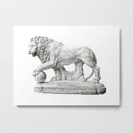 Marble Lion Metal Print