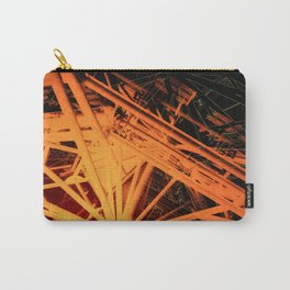 Roof Strut Abstract in Orange Carry-All Pouch