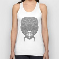 afro Tank Tops featuring AFRO by varvar2076