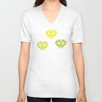 diamonds V-neck T-shirts featuring Diamonds by evannave