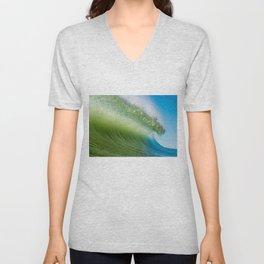BlueGreen Wave Unisex V-Neck