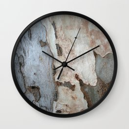 Bark Of A Eucalyptus Tree  Wall Clock