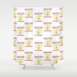 Gymnastics is my Superpower (Tiled Version) Shower Curtain
