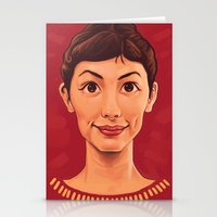 amelie Stationery Cards featuring Amelie by Dale C Bowers