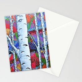 Sunset Sherbert Birch Forest Stationery Cards
