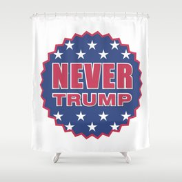 Never Trump Shower Curtain