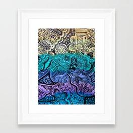 Watercolor Doodle Framed Art Print