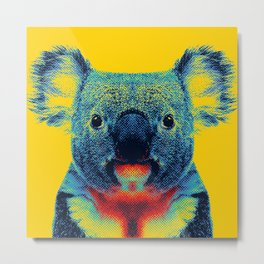 Koala Yellow Animal Metal Print