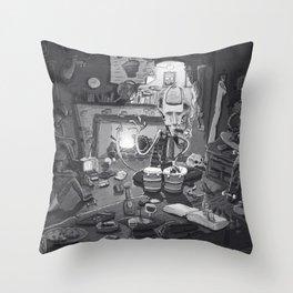 Beatnik Evil Throw Pillow
