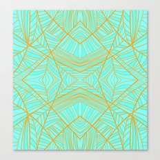 Just the Blues (Light Orange) Canvas Print