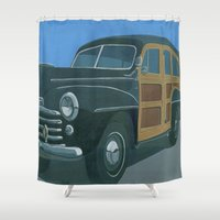 woody Shower Curtains featuring Woody by Gerry High