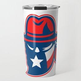 Texan Outlaw Texas Flag Mascot Travel Mug