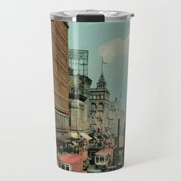 Montreal busy St. Catherine Street 1920s Travel Mug