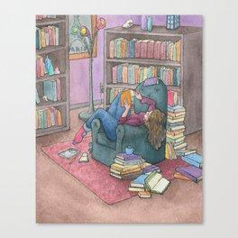 Book Love Canvas Print