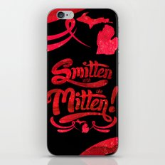 Smitten with the Mitten (Blue Version) iPhone & iPod Skin