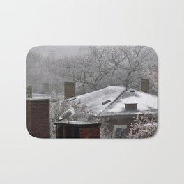 Ice and Fog in Portland, Maine (1) Bath Mat