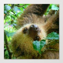 Poly Animals - Sloth Canvas Print