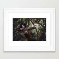katniss Framed Art Prints featuring Katniss by jasric