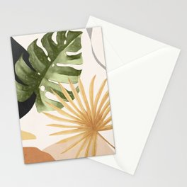 Abstract Art Tropical Leaves 22 Stationery Cards