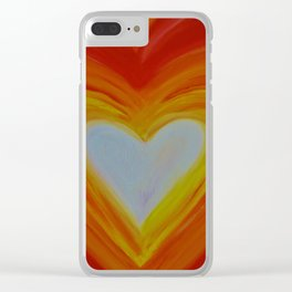 HEART OF LOVE Clear iPhone Case