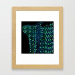 Beirut <3 Framed Art Print
