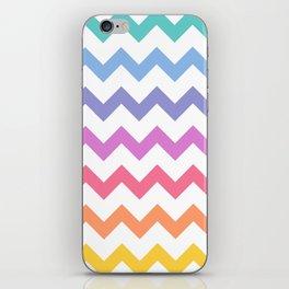 Rainbow Chevron iPhone Skin