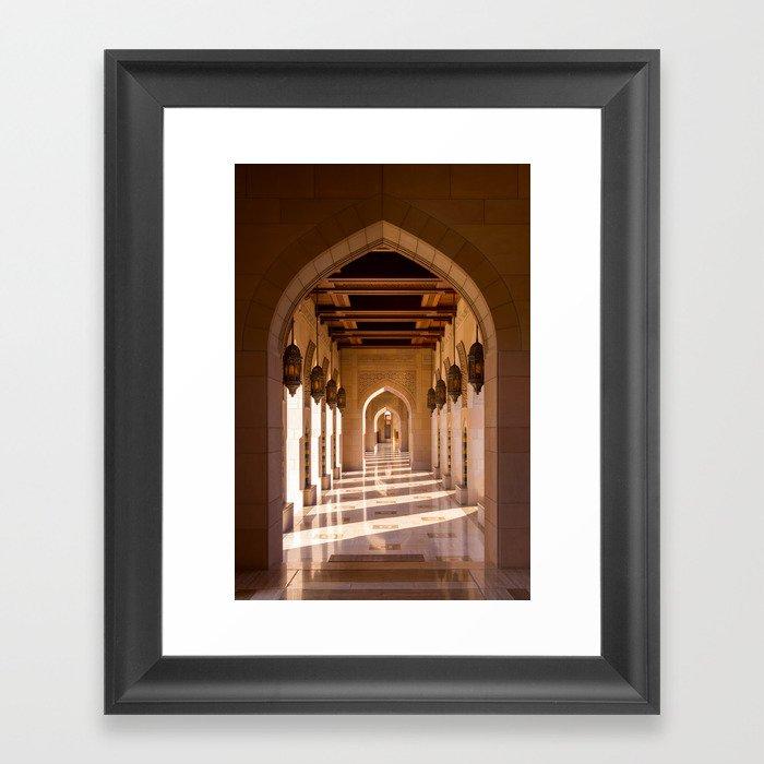 Sultan Qaboos Grand Mosque Gerahmter Kunstdruck