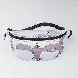 Buddha Head violet - grey Fanny Pack