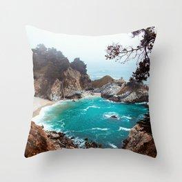 Julia Pfeiffer Burns State Park Throw Pillow