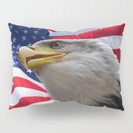 American Flag and Bald Eagle Pillow Sham